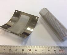金属メッシュ(線径0.02mm)フレーム溶接